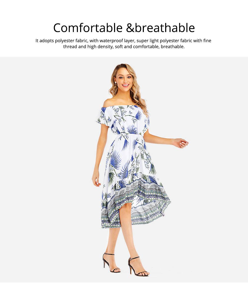 Holiday & Beach Dress for Women, Bohemian Print Dress, Sexy Off Shoulder Long Dress for Women 4
