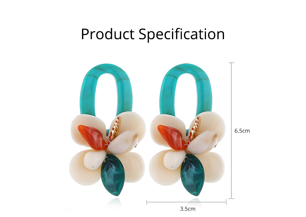 Retro Exaggerated Earrings Shell Coral Multilayer Earrings Acrylic Hoop Pendants Gifts for Women 6