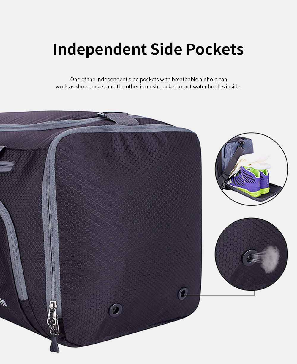 Nylon Oxford Wet and Dry Separation Bag with Two-way Zipper Major Pocket Durable Waterproof Separate Shoe Pocket Unisex Travelling Bag Large Capacity Valise Storage Bag 3