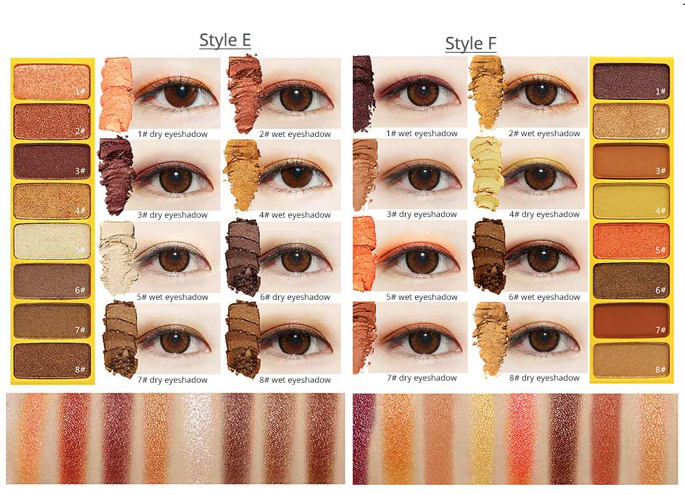 8 Colors Eye Shadow Palette, Waterproof Long Lasting Makeup Eyeshadow Palette, Colorful Cosmetics 6