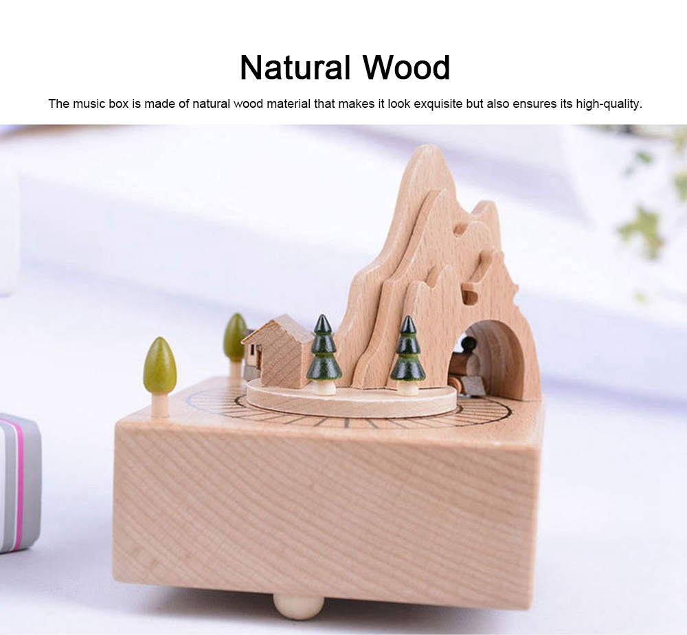 Creative Roller Coaster Wooden Music Box, Hand-made Wood Ware, Gifts Presents Ideal for Girlfriend Children Kids 2