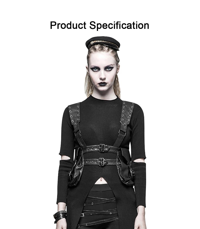 Square Shape Waist Strap Adjustable Belt Backpack, Locomotive Style Bag for Women, PU Leather Waistcoat Halloween Gift 6