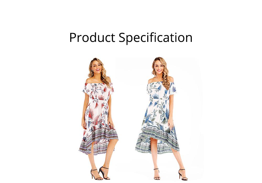 Holiday & Beach Dress for Women, Bohemian Print Dress, Sexy Off Shoulder Long Dress for Women 5
