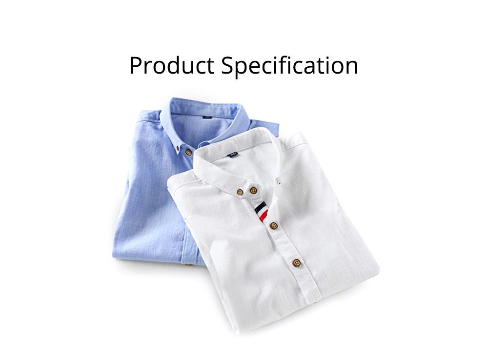 Mens Linen Shirt Short Sleeve Banded Collar Casual Shirts Regular Fit Button Down T-shirts 7