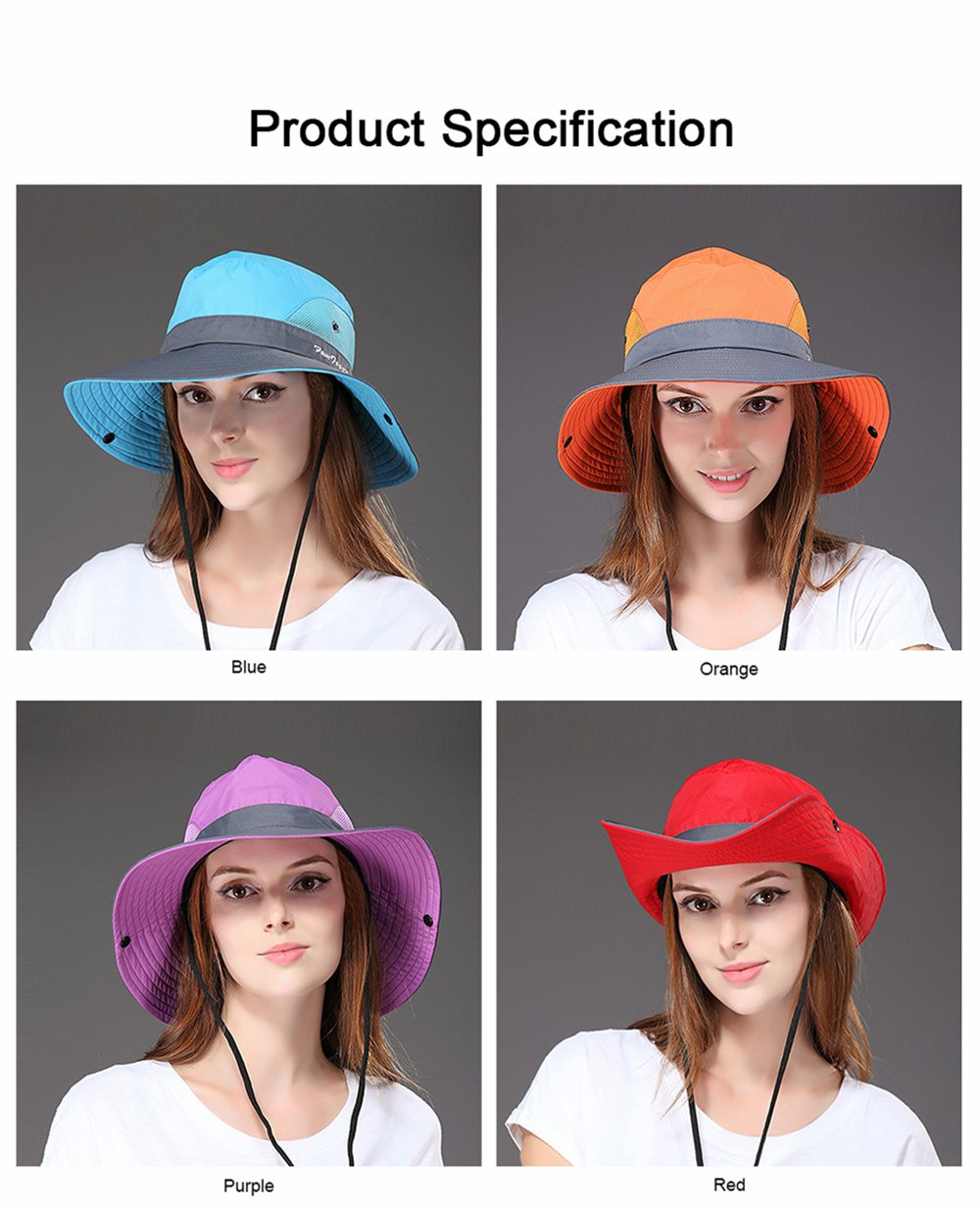 Foldable Bucket Hat for Women, Sunbonnet Sun Hat for Summer, Wind-proof Sun-proof for Outdoor Activities 6