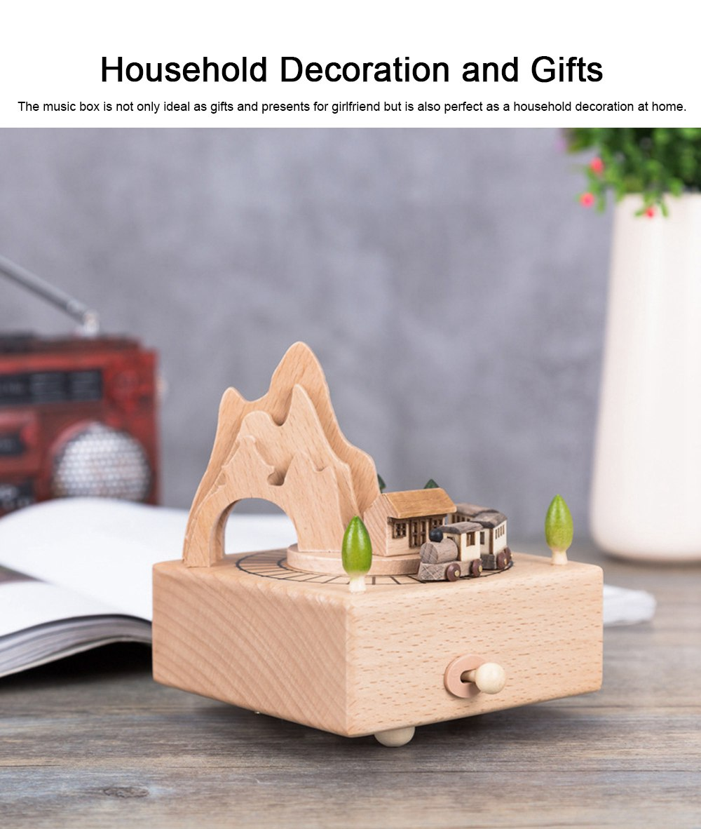 Creative Roller Coaster Wooden Music Box, Hand-made Wood Ware, Gifts Presents Ideal for Girlfriend Children Kids 5