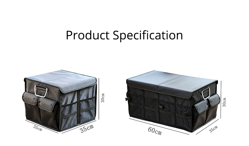 Durable Storage Box for Car & Home, Foldable Utility Box for Car, Vehicle-mounted Non-slip Bottom Sorting Box L S Size 7