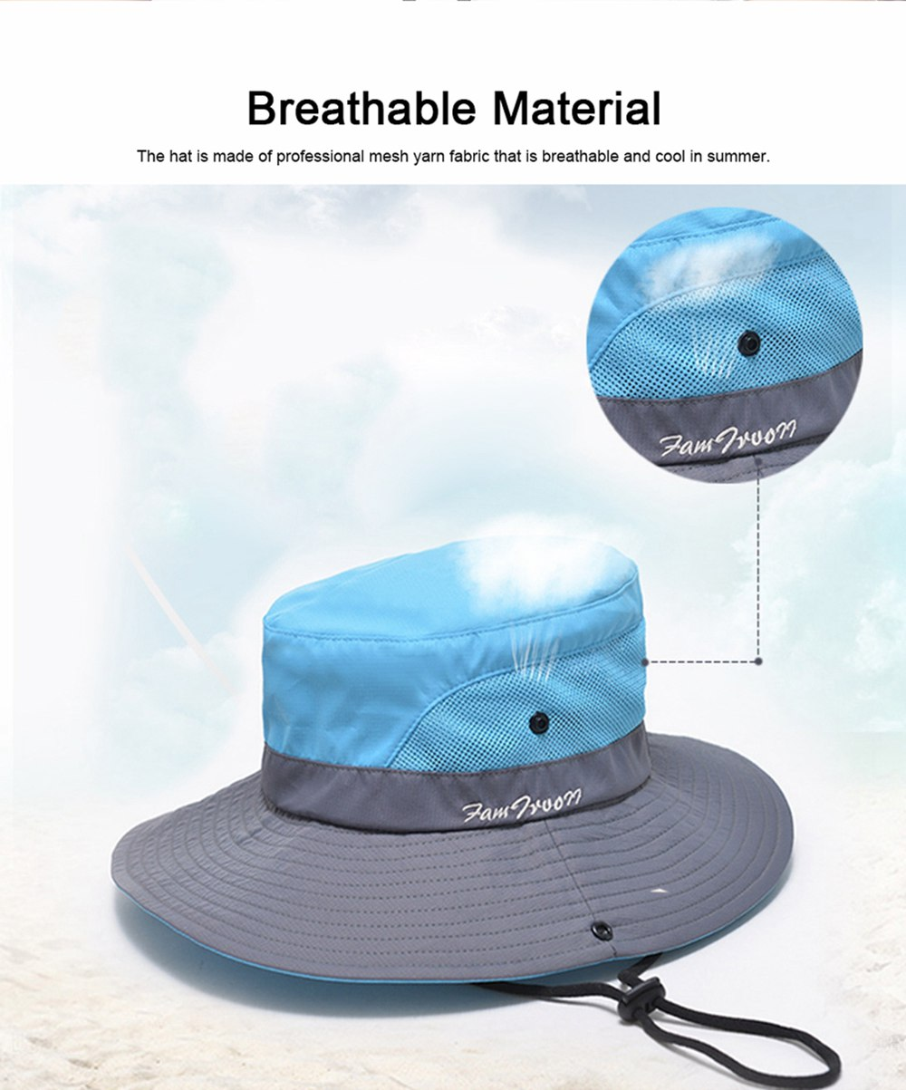 Foldable Bucket Hat for Women, Sunbonnet Sun Hat for Summer, Wind-proof Sun-proof for Outdoor Activities 1