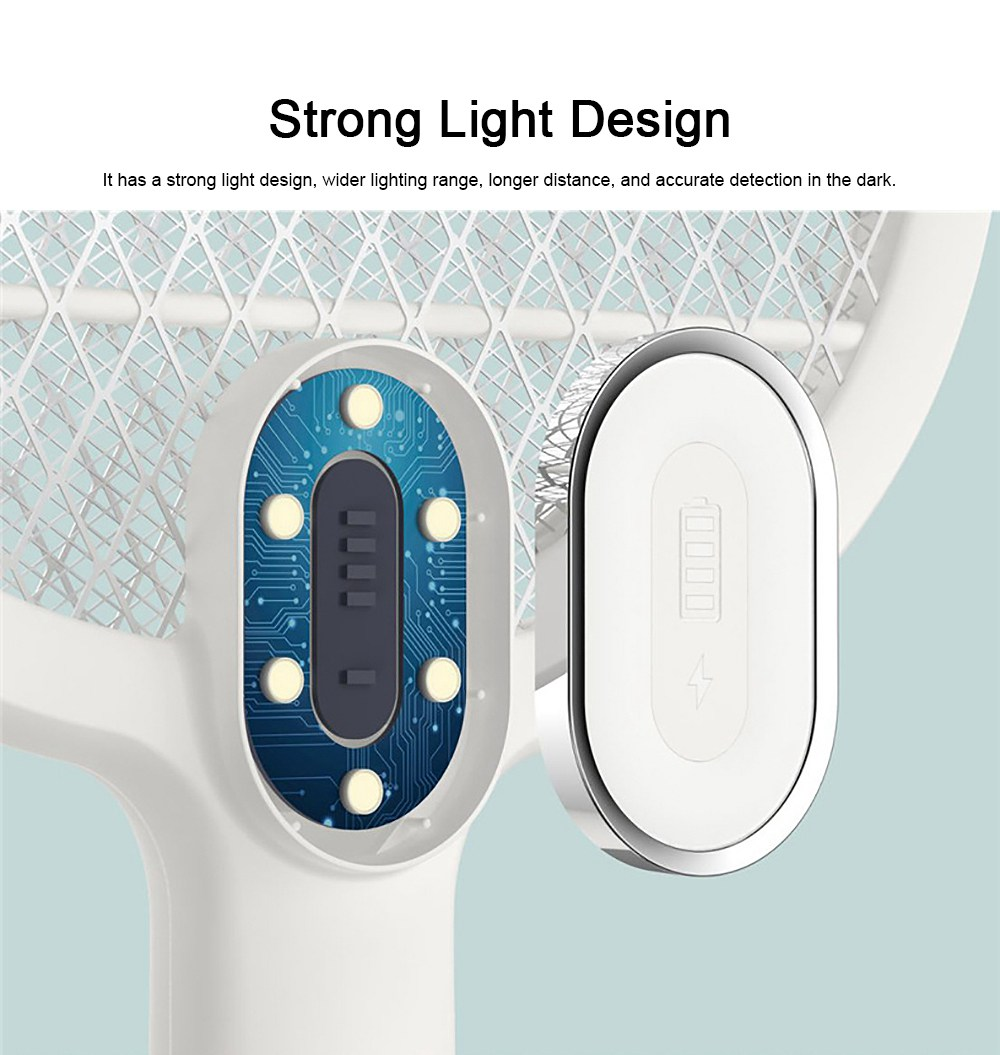 Electronic Mosquito Killer Swatter Metal Mesh Strong Light Mosquito Shoot Bat USB Charging Rechargeable Portable Durable Fly Insect Electric Swatter 5