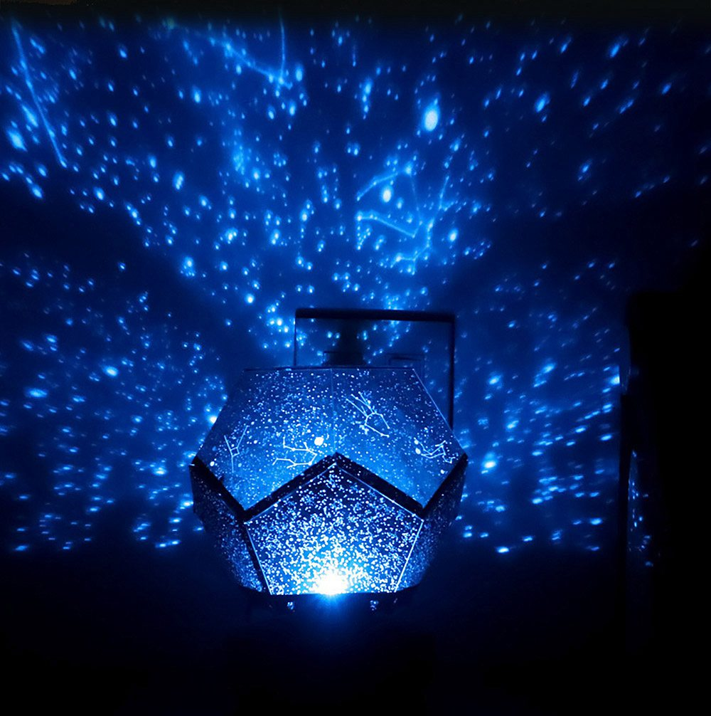 LED Rotation Star Projection Lamp Light Remote Control Design Free Installation Insert Type Lamp Shade Light with Starry Sky Box 1