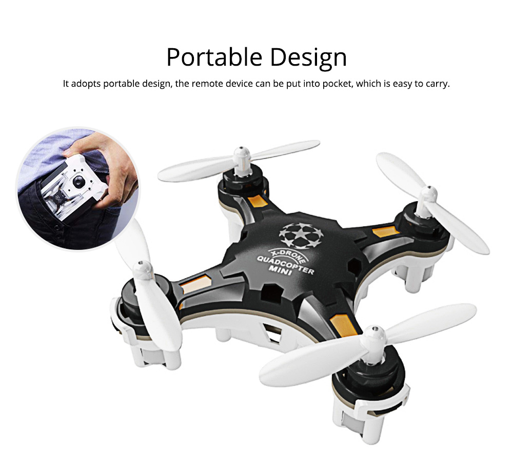 Portable Remoted Control Aircraft Easy Operation for Beginners, Mini Foldable Selfie RC Drones with Camera 7