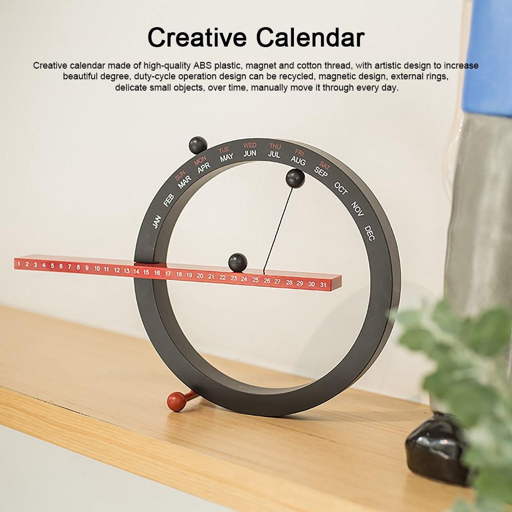 Creative Calendar Artistic Duty-cycle Operation Magnetic ABS Plastic, Magnet Cotton Thread Desk Calendar Birthday Gift or Souvenir 0
