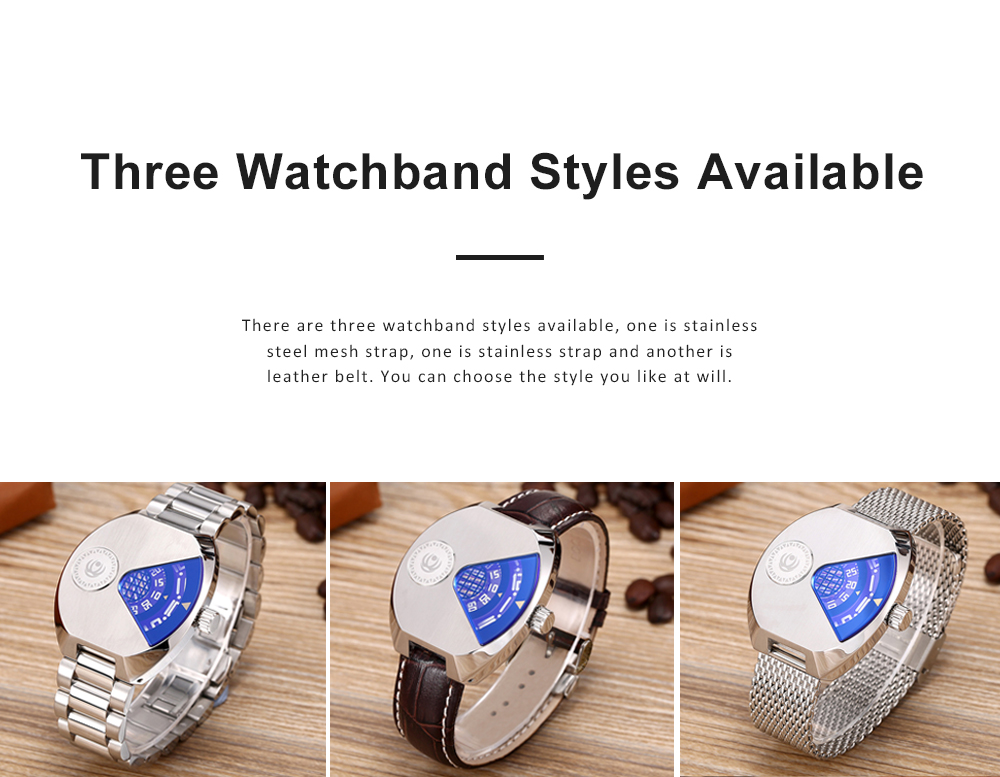 Creative Watch for Men Student Watch with Imported Quartz Movement Breathable Mesh Steel Watchband 5