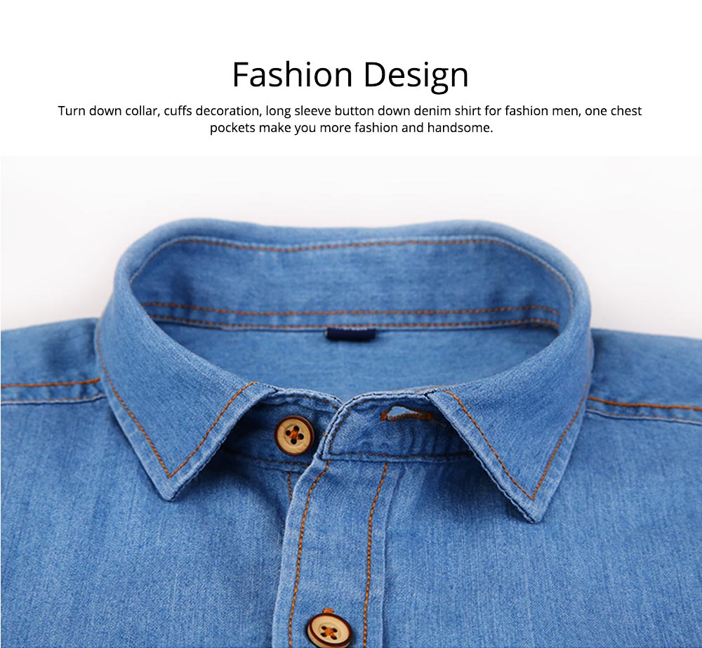Men's Short Sleeve Shirts Casual Button Down Western Vintage Denim Shirt Cotton Loose Shirts 1