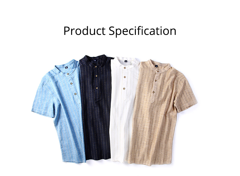 Men's Pure Color T-Shirts Stripe Short Sleeve Shirt Fashion Loose Casual Quick-Dry T-Shirt for Men 7