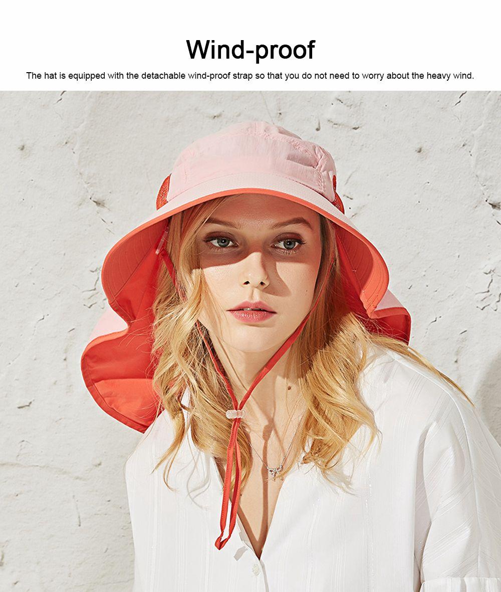 Summer Sunbonnet for Women, Quick Dry Sun-proof Sun Hat, for Outdoor Activities Climbing Beach 5