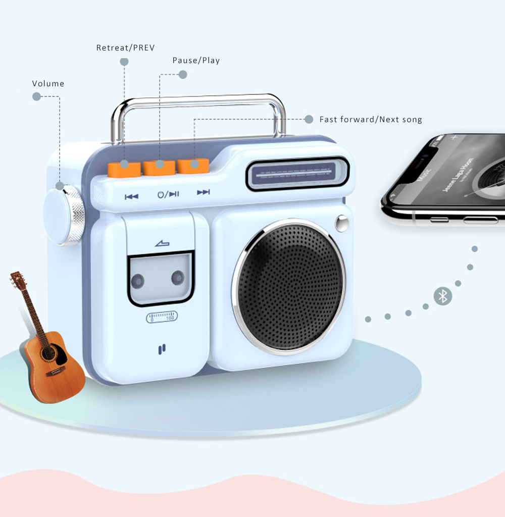 Mini Retro Radio Bluetooth Speaker Portable Vintage Radio High Definition Audio BT 4.2 Bluetooth Speakers 2