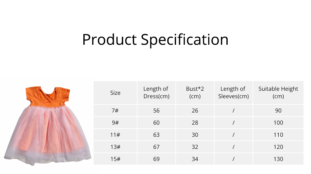 Hollow-back Dress for Girls, Tulle Skirt Patchwork Dress, Short Sleeves Dress for 3- 8 Years Girl 6