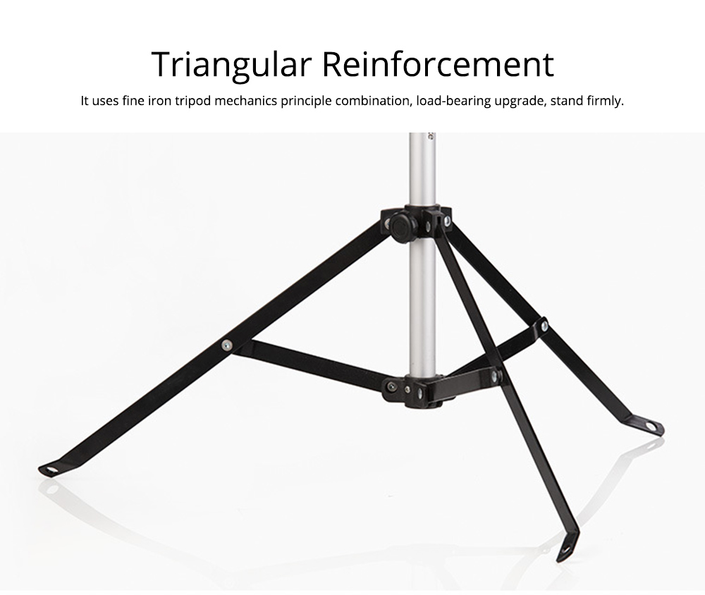 Lamp Holder Tripod Stand Kit Aluminum Alloy Retractable Light Stand Adjustable Height 0.75m to 1.9 Meters Lighting Bracket for Outdoor Camping 2