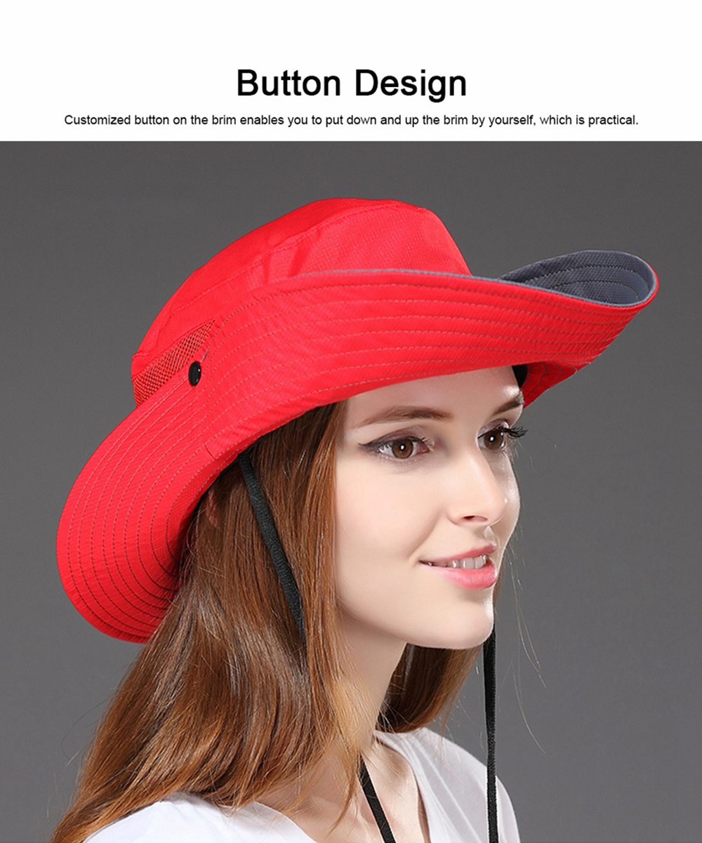 Foldable Bucket Hat for Women, Sunbonnet Sun Hat for Summer, Wind-proof Sun-proof for Outdoor Activities 4