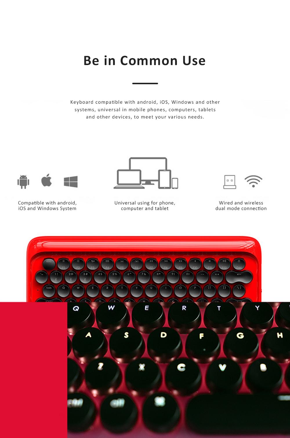 LOFREE Bluetooth Keyboard Retro Style Lofree Dot Mechanical Wireless Keyboard 2