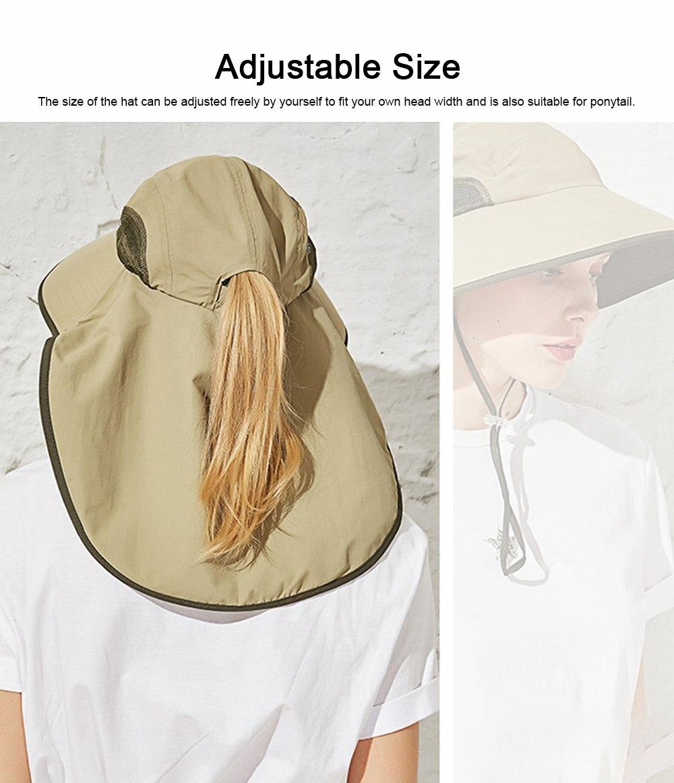 Summer Sunbonnet for Women, Quick Dry Sun-proof Sun Hat, for Outdoor Activities Climbing Beach 2