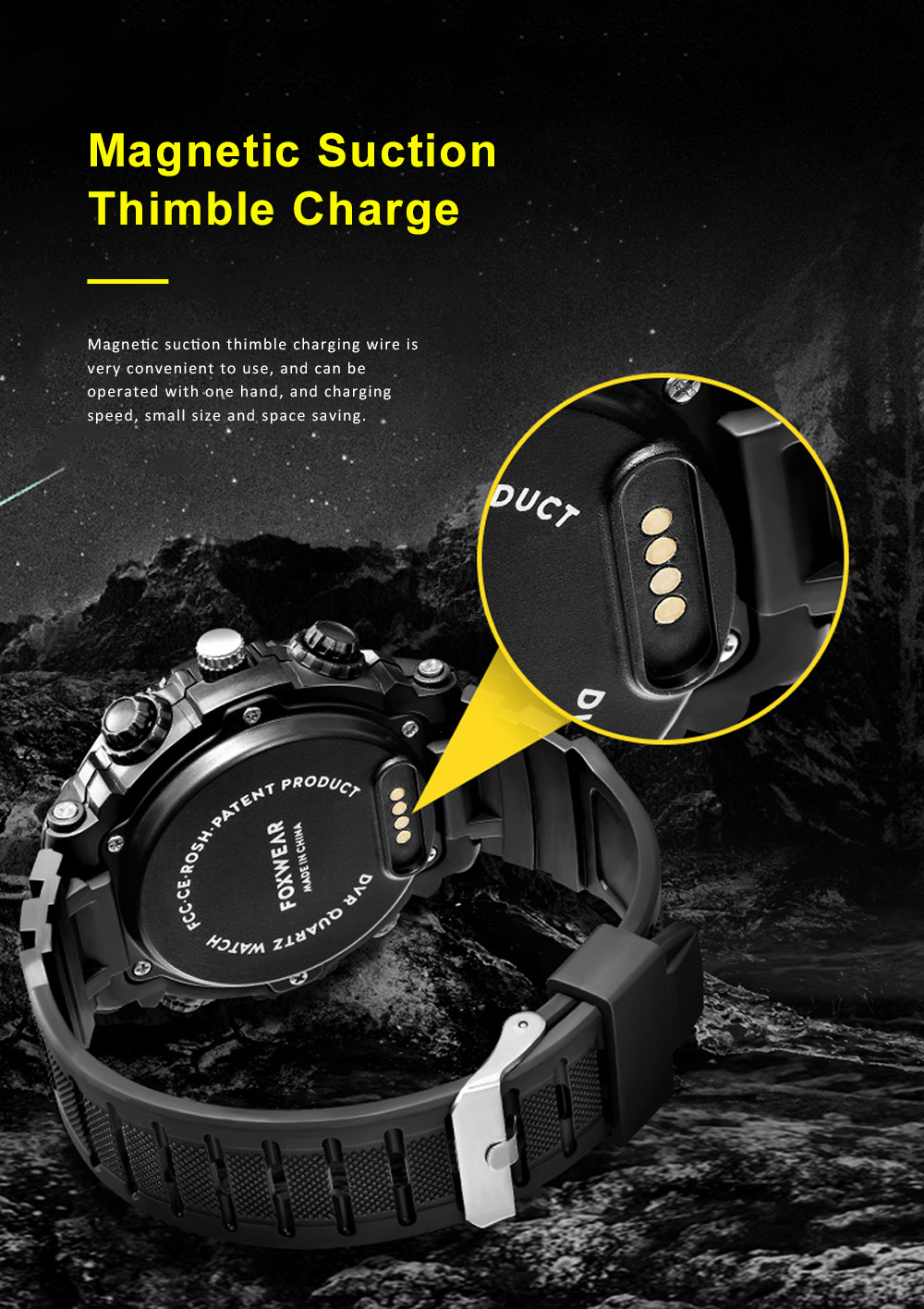 HD Camera Sport Watch IPX7 Waterproof Smart Wifi Watch with LED Lighting Outdoors Sports Watch For Men 5