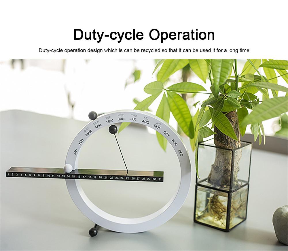 Creative Calendar Artistic Duty-cycle Operation Magnetic ABS Plastic, Magnet Cotton Thread Desk Calendar Birthday Gift or Souvenir 3