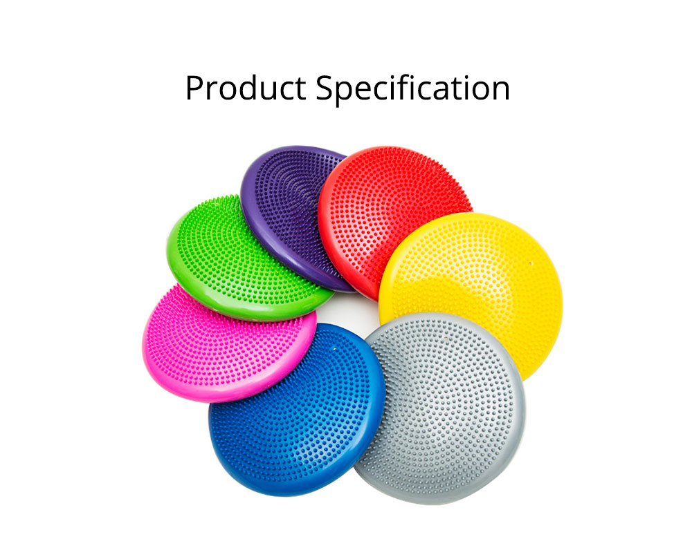 Yoga Balance Disc Extra Thick Inflatable Exercise Fitness Stability Wobble Cushion with Inflator for Training Physical Therapy 7
