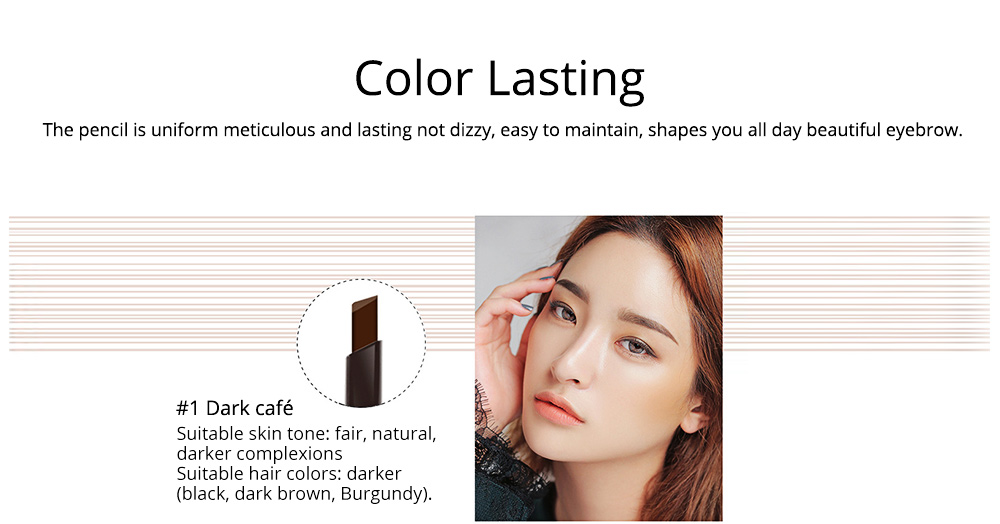 Double-Head Rotated Eyebrow Pencil, Waterproof Eyebrow Pencil, Eyebrow Pencil with a Brush NOVO 5 Colors Available 5