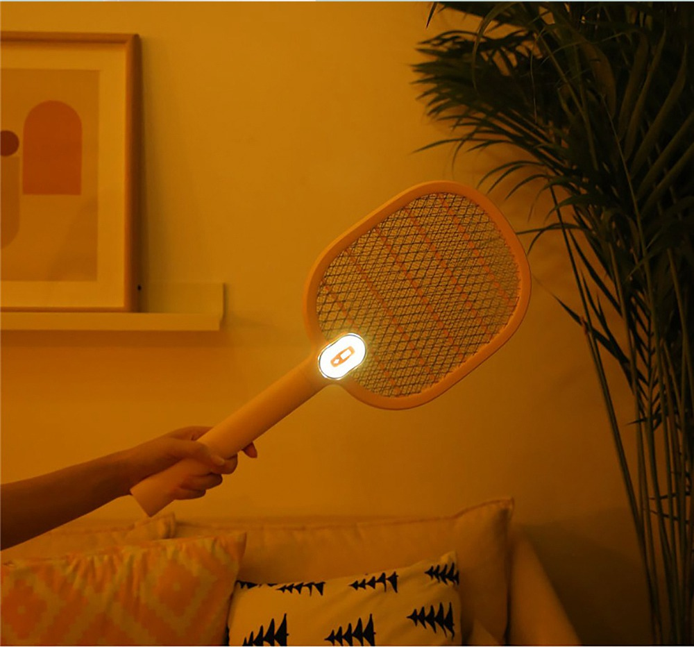 Electronic Mosquito Killer Swatter Metal Mesh Strong Light Mosquito Shoot Bat USB Charging Rechargeable Portable Durable Fly Insect Electric Swatter 6