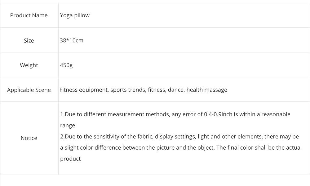 Yoga Pillow Breathable Hip Pelvis Multifunctional Pillow Cervical Lumbar Health Care Pillow Neck Pillow for Yoga Office Car 7
