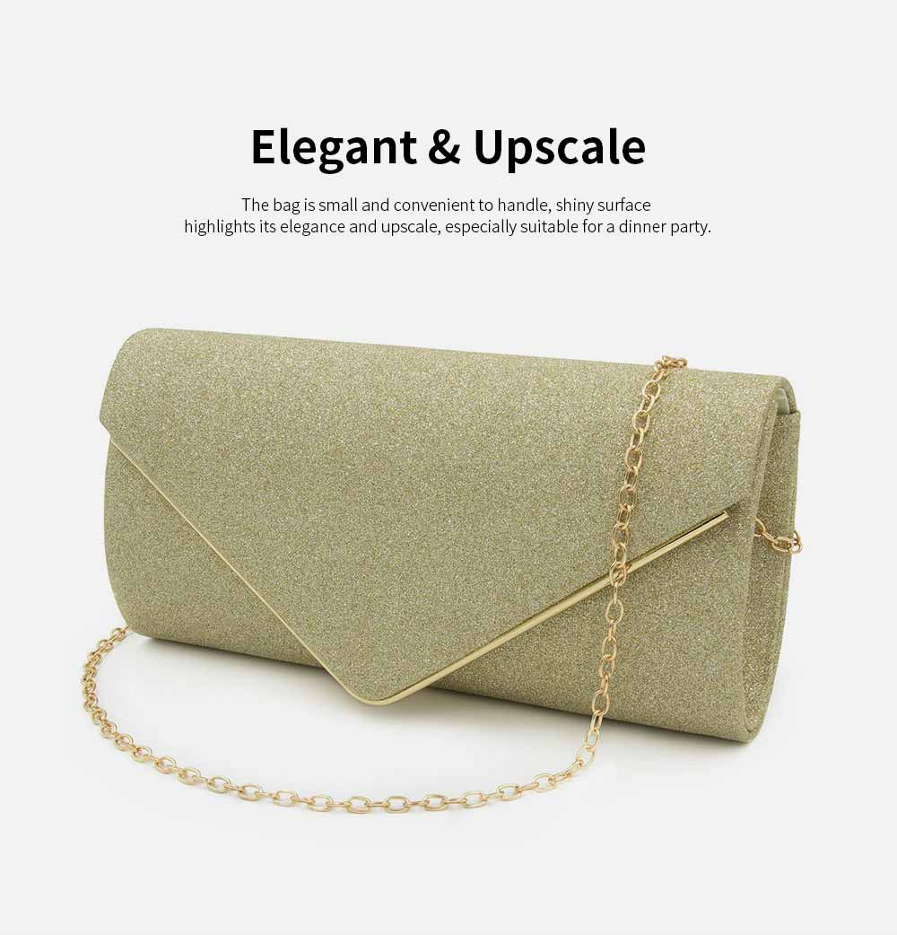 Evening Bag Lining Clothe Material Elegant Clutch for Dinner Women Shiny Envelope-bag Good-looking Handbag 4
