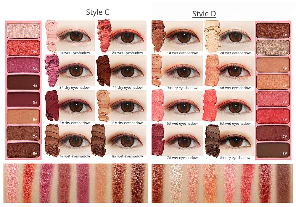 8 Colors Eye Shadow Palette, Waterproof Long Lasting Makeup Eyeshadow Palette, Colorful Cosmetics 5