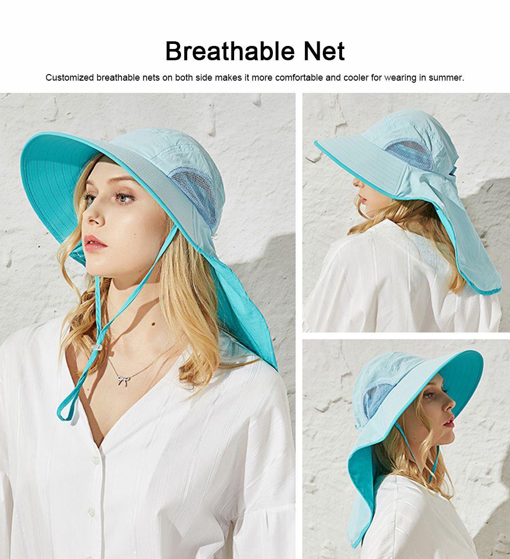 Summer Sunbonnet for Women, Quick Dry Sun-proof Sun Hat, for Outdoor Activities Climbing Beach 4
