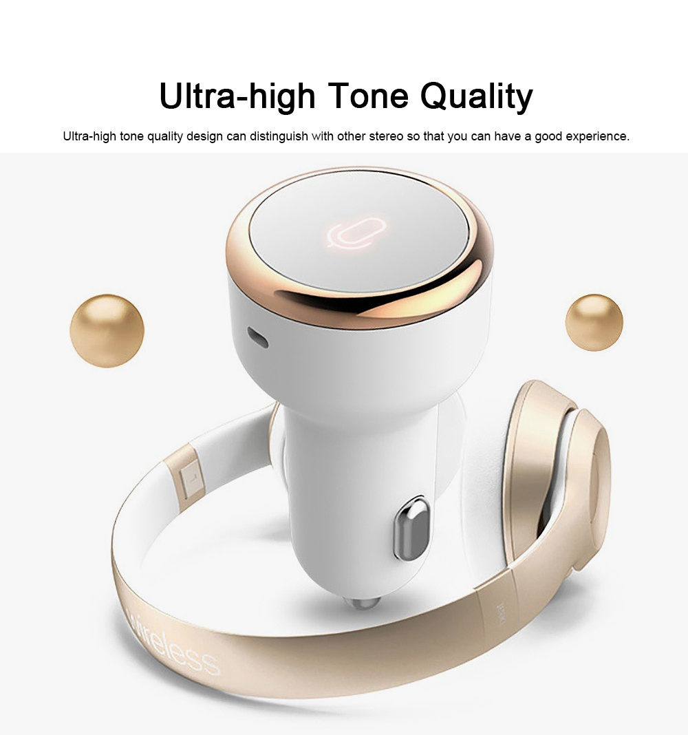 Vehicular Audio System for Motorist, Eight Technologies Ultra-high Tone Quality Car Charger Interactive A Key to Answer Intelligent MP3 2