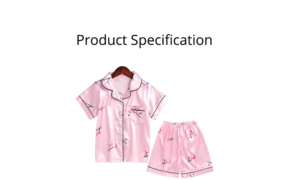 Casual Mother Daughter Pajamas Matching Comfortable Ice Silk Satin Pajama Set with Shirt and Short Pant 8