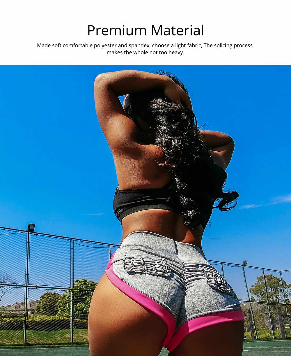 Women Workout Running Shorts Breathable Active Yoga Gym Sport Shorts Fashion Sportswear 3