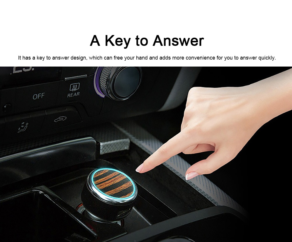 Vehicular Audio System for Motorist, Eight Technologies Ultra-high Tone Quality Car Charger Interactive A Key to Answer Intelligent MP3 6
