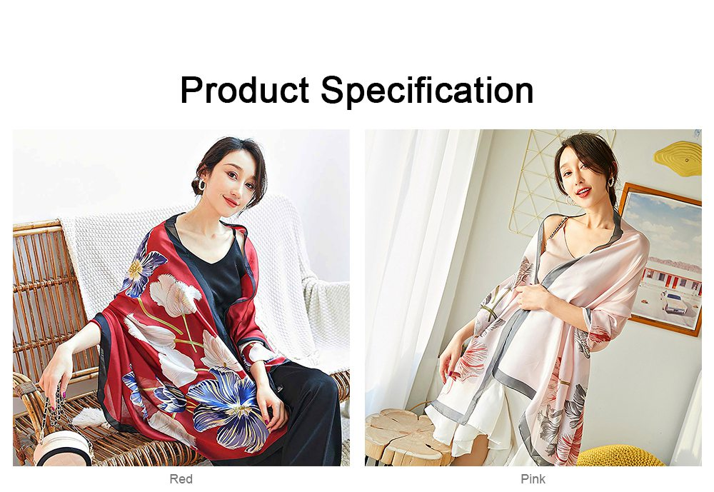 Imitation Silk Scarf for Women Chinese Style Square Shape Suitable for Many Occasions Shawl, Wide Range Scarves 6