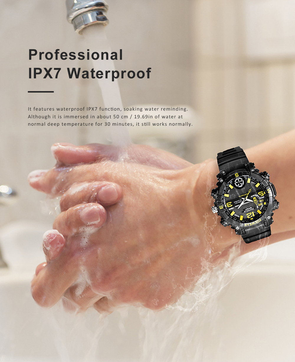 HD Camera Sport Watch IPX7 Waterproof Smart Wifi Watch with LED Lighting Outdoors Sports Watch For Men 3