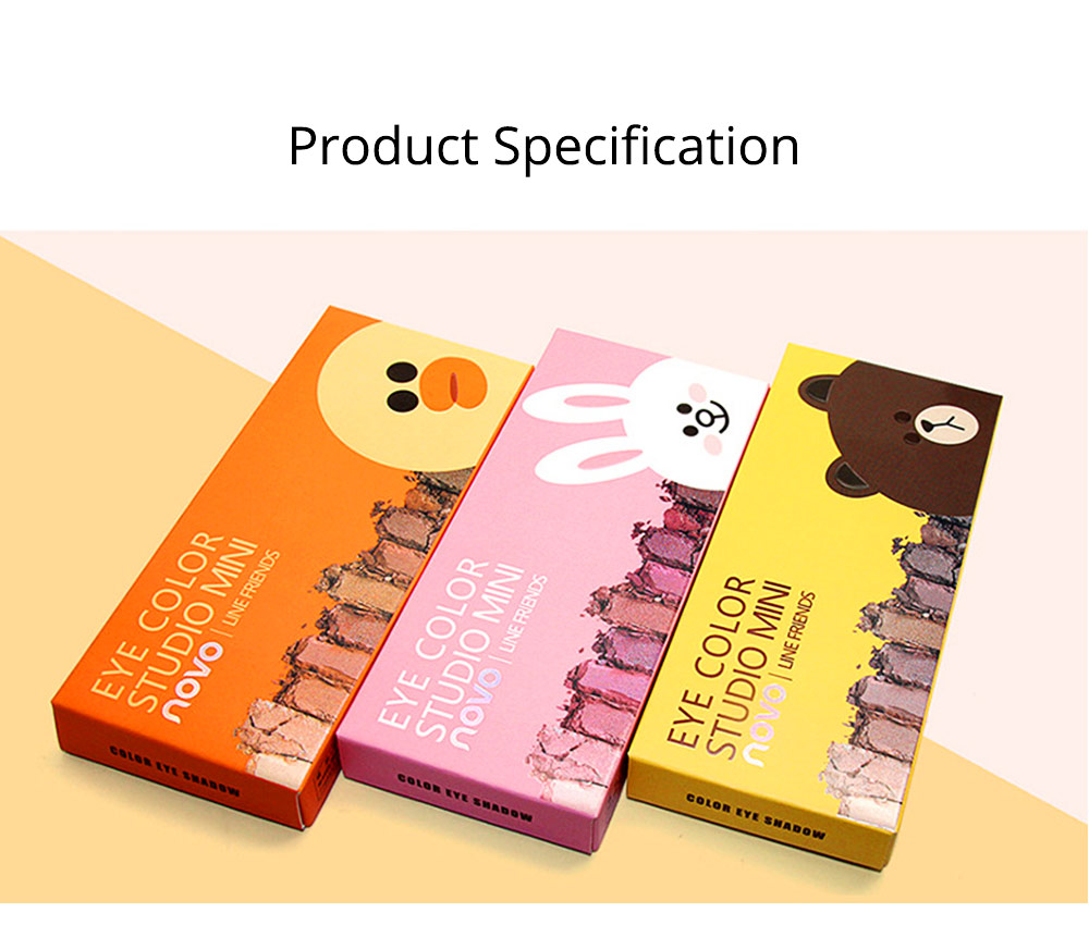 8 Colors Eye Shadow Palette, Waterproof Long Lasting Makeup Eyeshadow Palette, Colorful Cosmetics 7