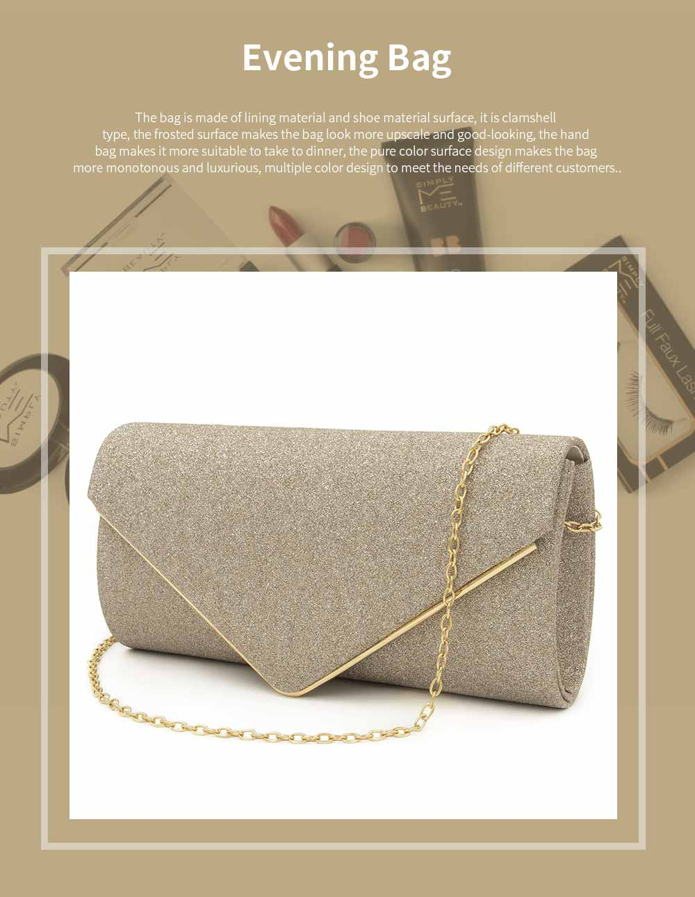 Evening Bag Lining Clothe Material Elegant Clutch for Dinner Women Shiny Envelope-bag Good-looking Handbag 0