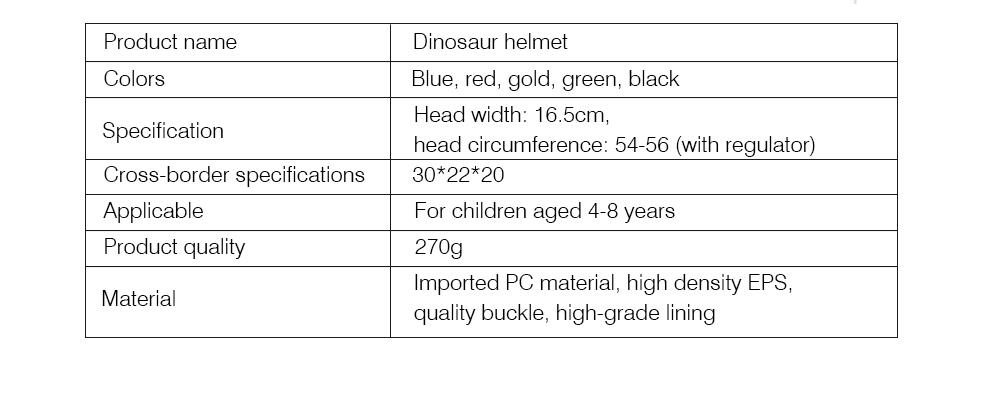 Kids Dinosaur Helmet Adjustable Buckle Headpiece Cartoon Shape Safe Cap Comfortable Sport Helmet for Children 7