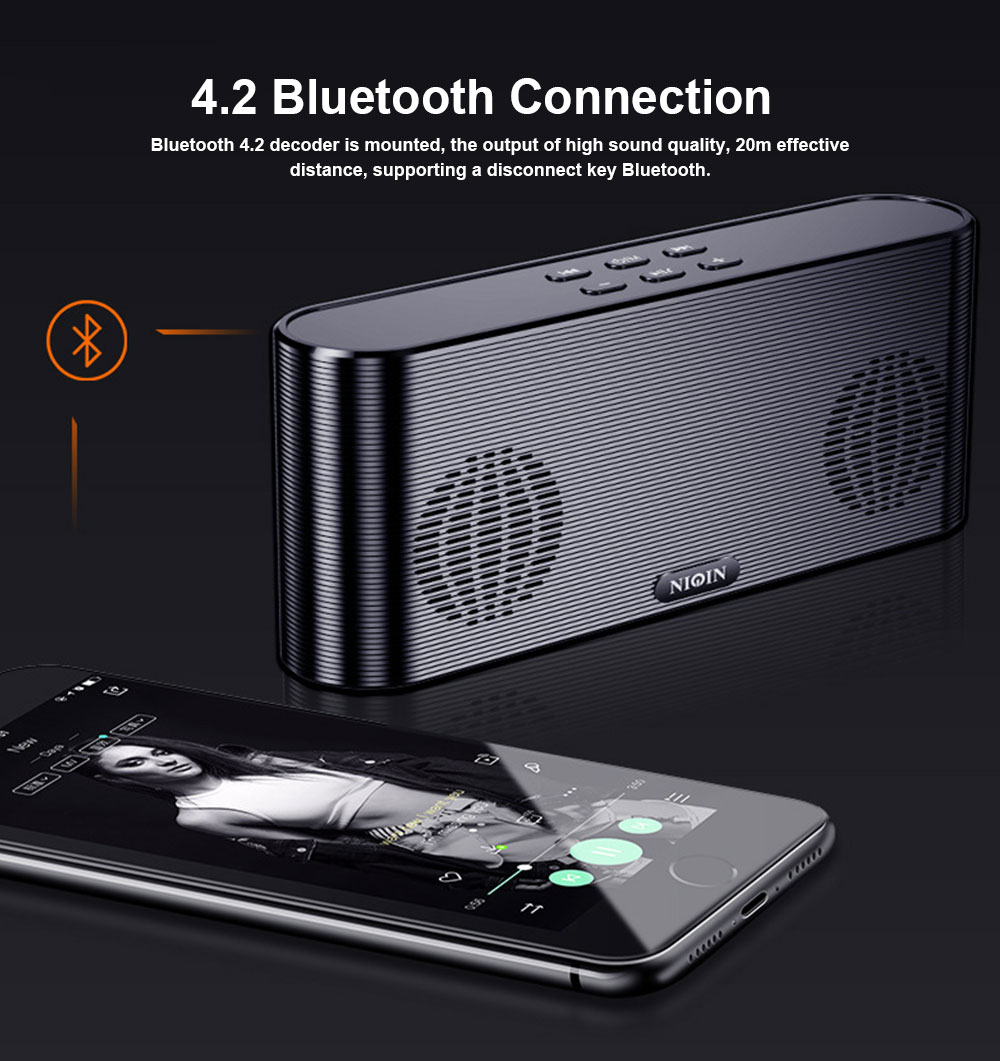 Dual Use Bluetooth 4.2 Speaker Cell Phone Charger Power Bank Plug-in Card Wireless Mini Speaker Outdoor Portable Subwoofer Speaker 5