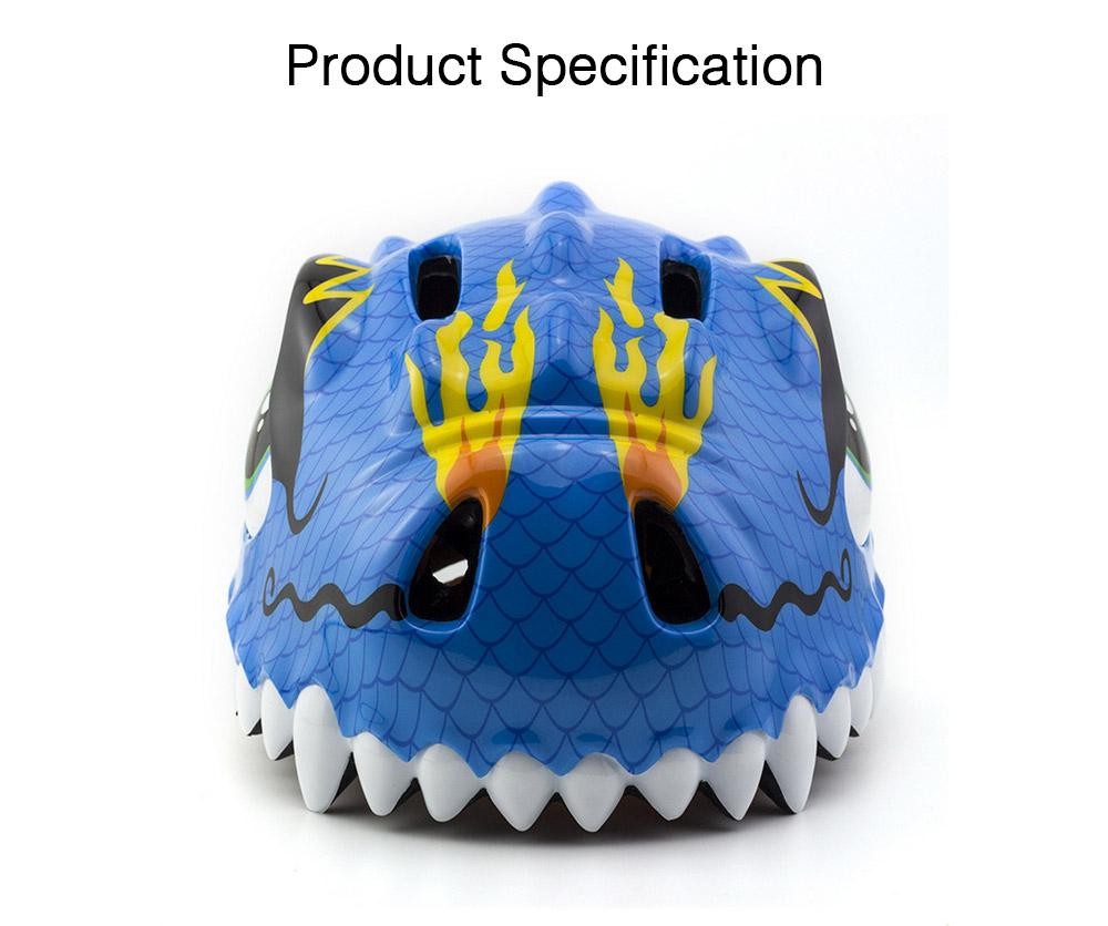 Kids Dinosaur Helmet Adjustable Buckle Headpiece Cartoon Shape Safe Cap Comfortable Sport Helmet for Children 6