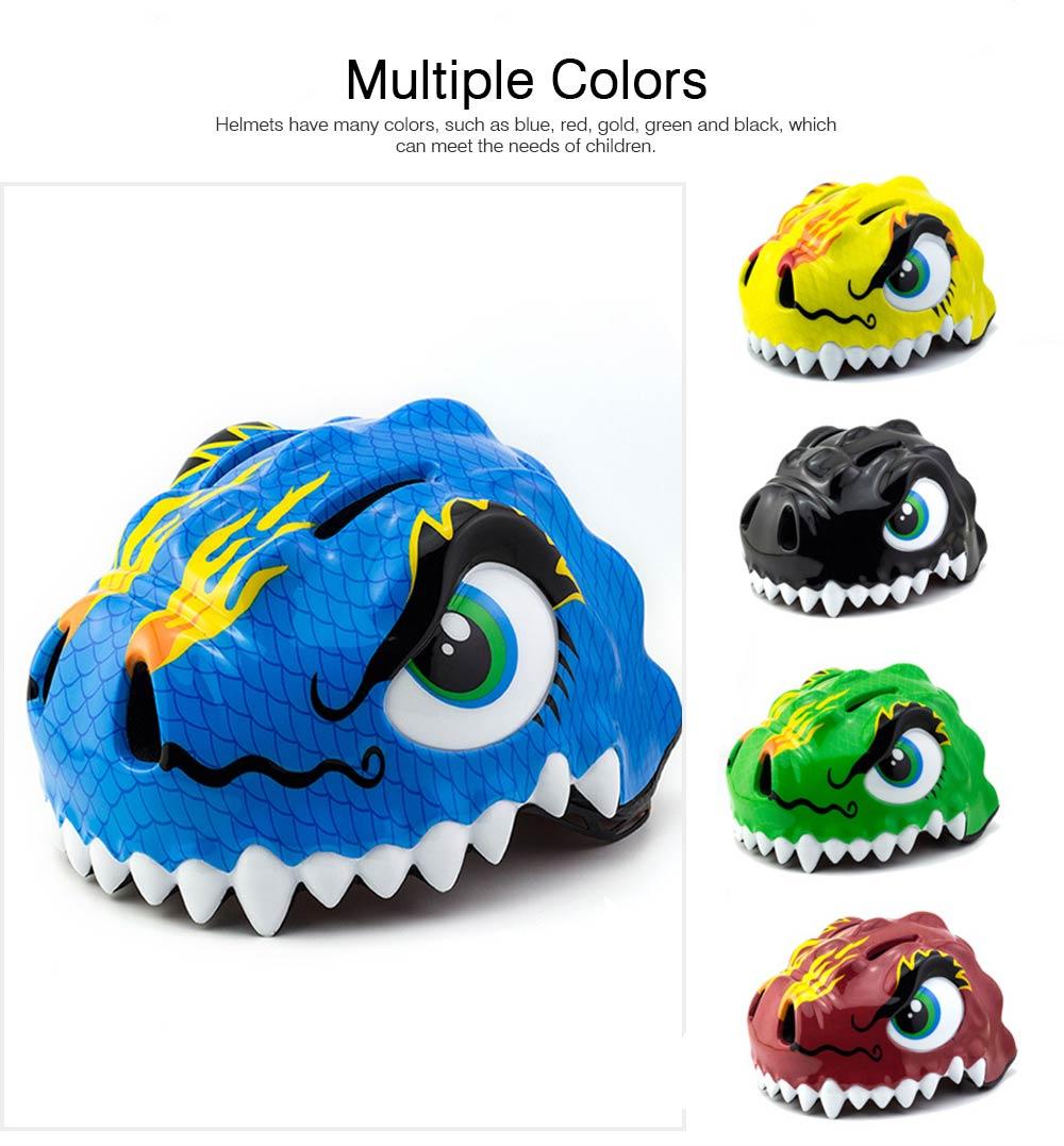 Kids Dinosaur Helmet Adjustable Buckle Headpiece Cartoon Shape Safe Cap Comfortable Sport Helmet for Children 5