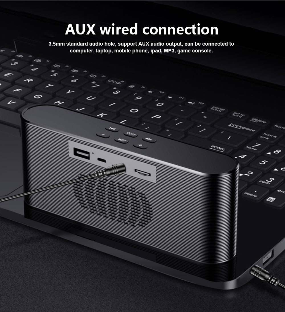 Dual Use Bluetooth 4.2 Speaker Cell Phone Charger Power Bank Plug-in Card Wireless Mini Speaker Outdoor Portable Subwoofer Speaker 8