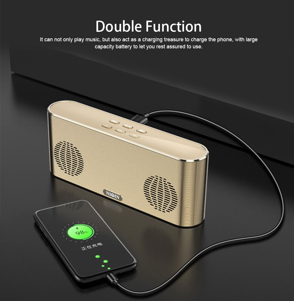 Dual Use Bluetooth 4.2 Speaker Cell Phone Charger Power Bank Plug-in Card Wireless Mini Speaker Outdoor Portable Subwoofer Speaker 1