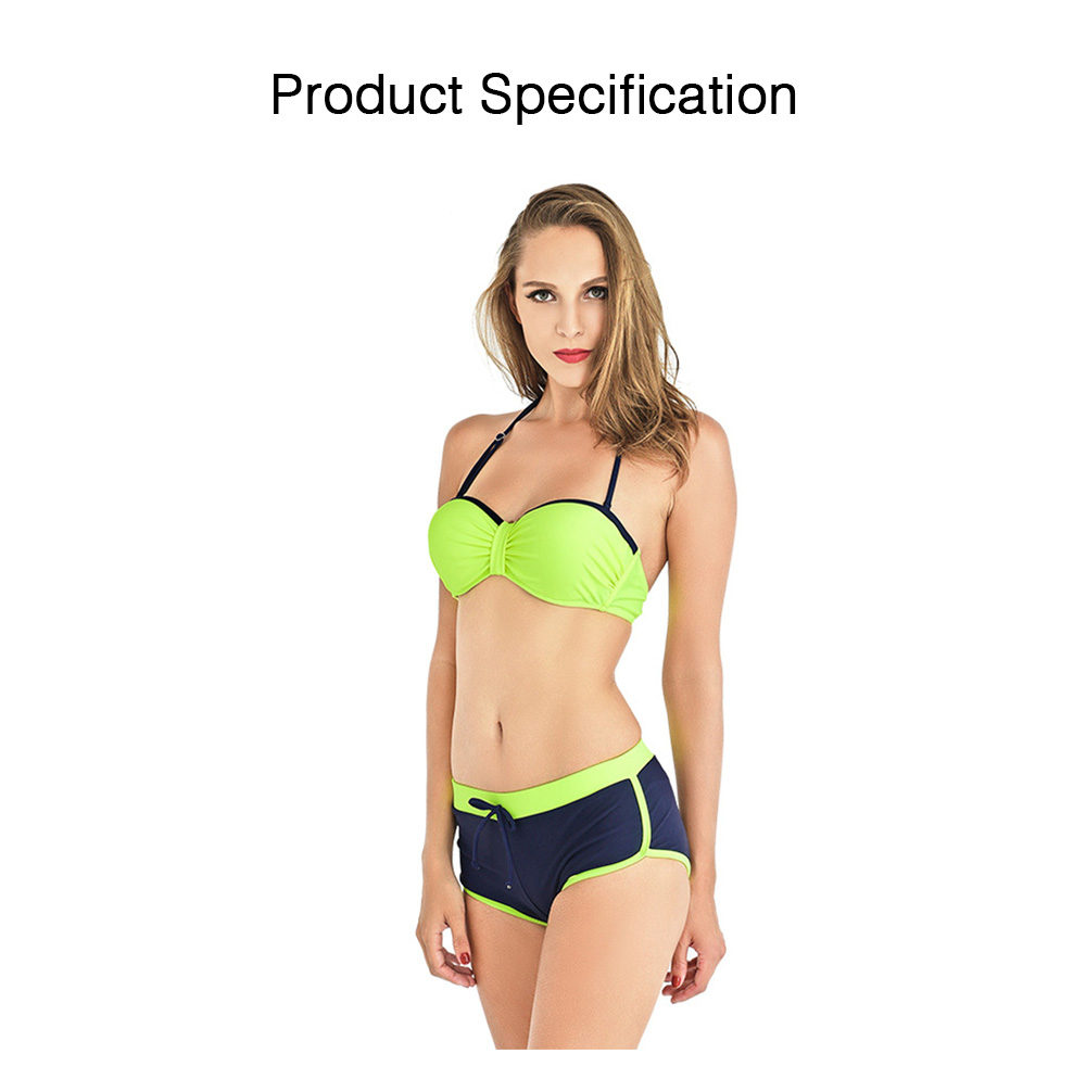 Two Pieces Sexy Bathing Suits Swimsuit Spandex Chinlon Slim Thin Briefs for Women Bikini Breathable Swimwear Set 5